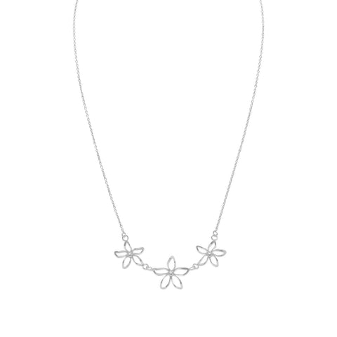 "18"" Diamond Cut Flower Necklace"