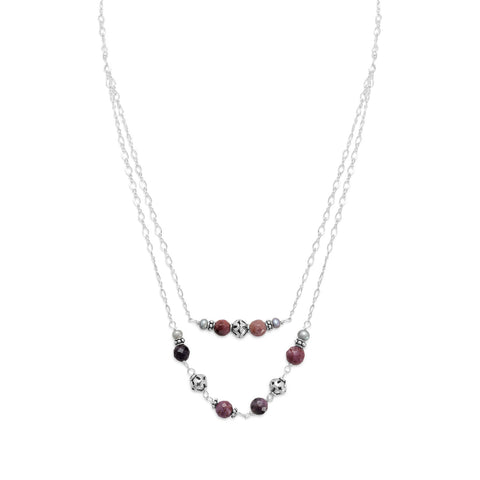 Baila Luna Corundum Bead Necklace