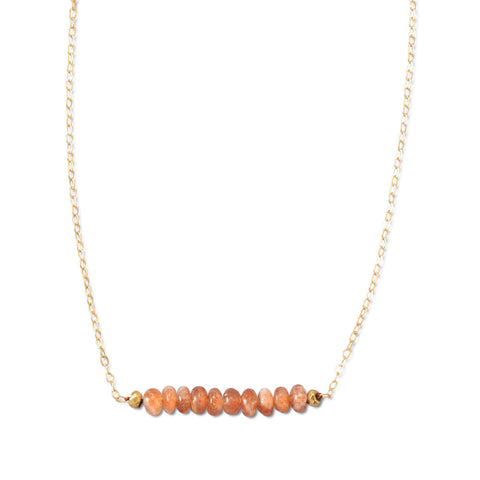 "16"" + 1.5"" 14/20 Gold Filled Sunstone Necklace"