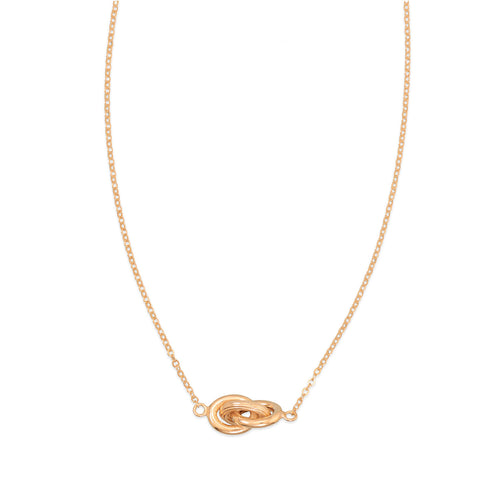 14 Karat Gold Plated Necklace with Triple Link Design