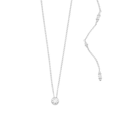 Elegant CZ and Crystal Back Drop Necklace