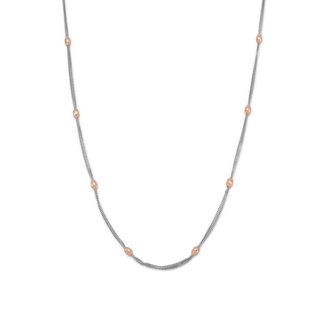 Two Tone Double Strand Beaded Necklace
