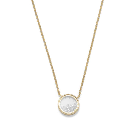 14 Karat Gold Plated Dancing CZ Necklace