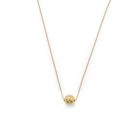 14 Karat Gold Plate Bead Necklace