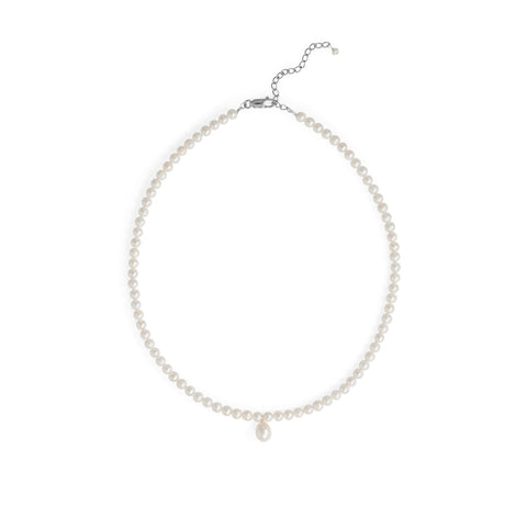 "16""+2"" Cultured Freshwater Pearl Drop Necklace"