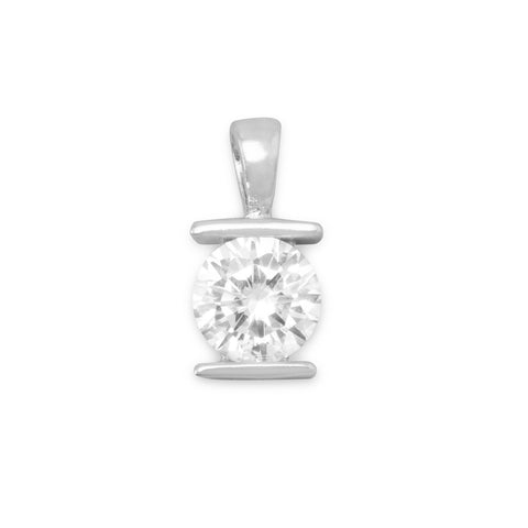 8mm Tension Set CZ Pendant