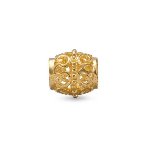 14 Karat Gold Plated Barrel Bead