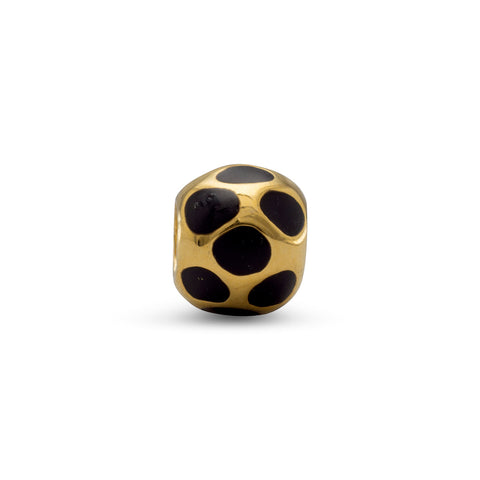 14 Karat Gold Plated and Enamel Bead