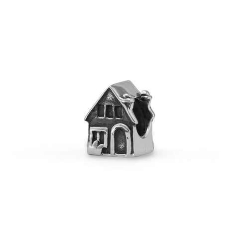 Oxidized House Bead