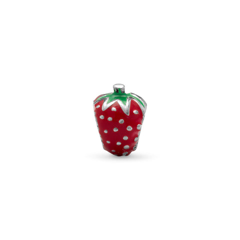 Enamel Strawberry Bead
