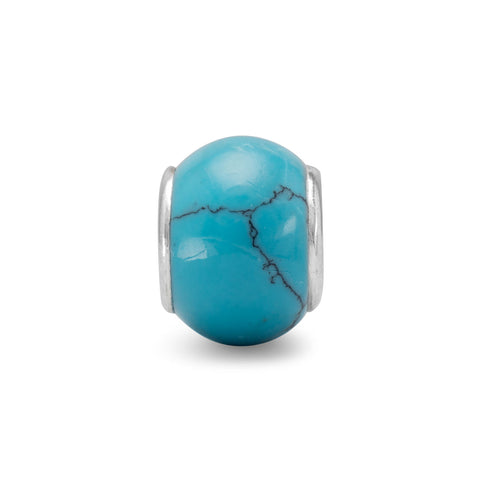Turquoise Look Glass Bead