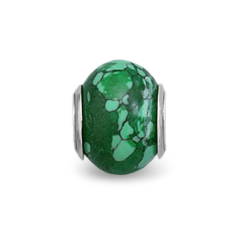 Malachite Look Glass Bead