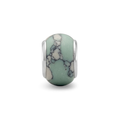 Marble Stone Look Glass Bead