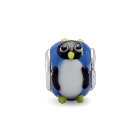 Penguins Glass Bead