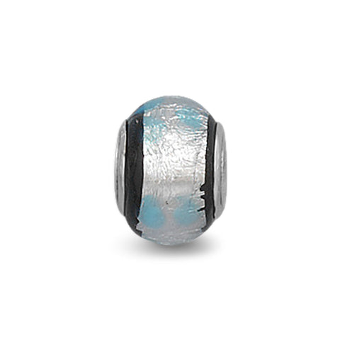 Silver Foil Glass Bead