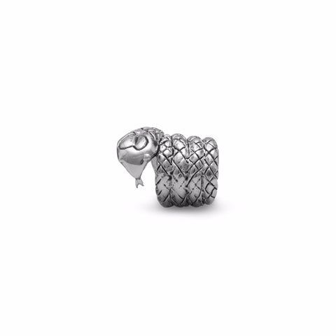 Oxidized Coiled Snake Bead