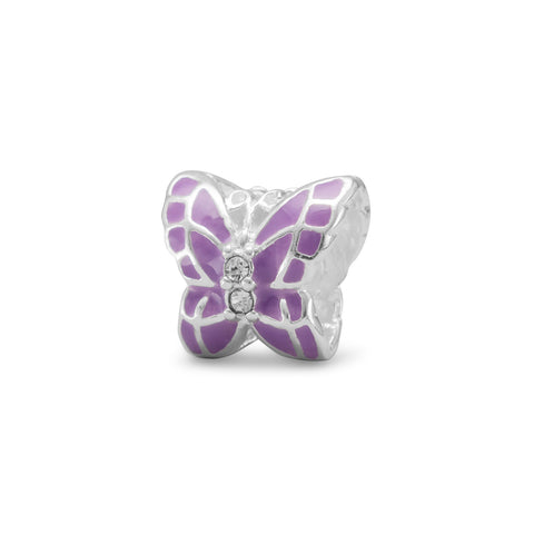 Lavender Butterfly Bead