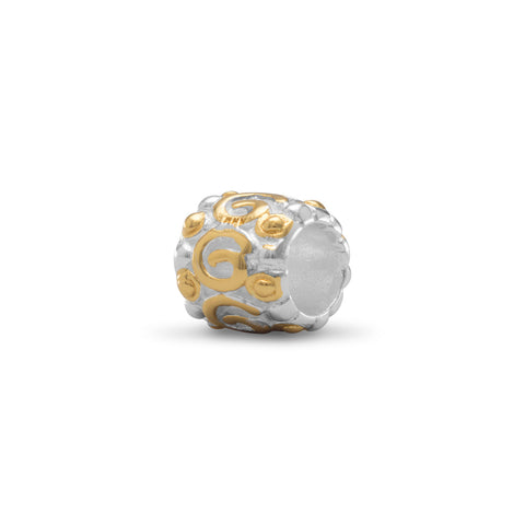 Two Tone Shiny Coil Design Bead
