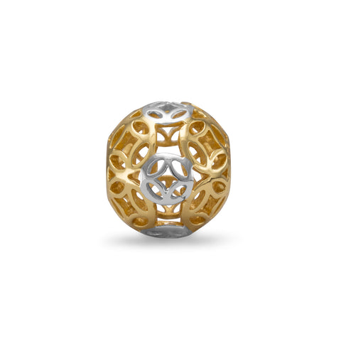 Two Tone Cut Out Geometric Design Bead
