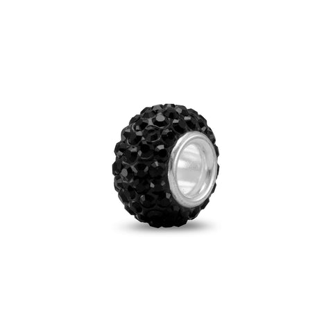 Black Pave Crystal Bead