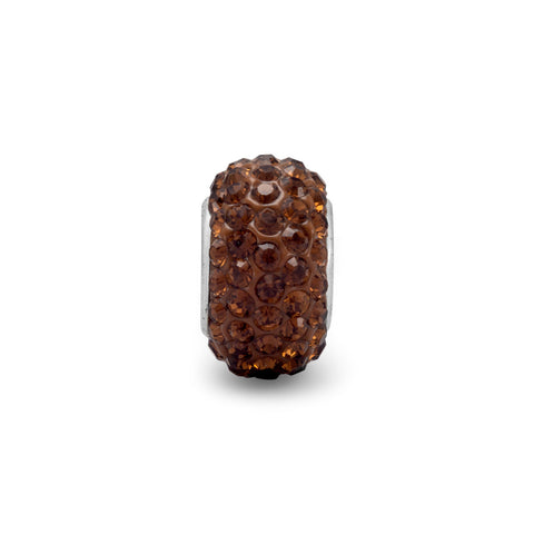 Brown Pave Crystal Bead