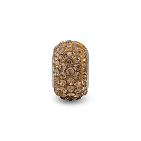 Champagne Pave Crystal Bead