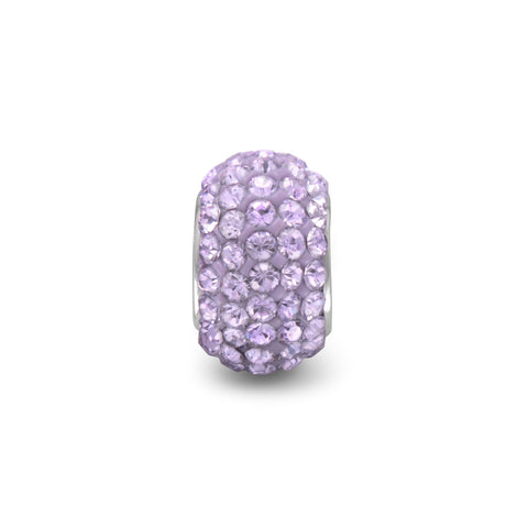Lavender Pave Crystal Bead
