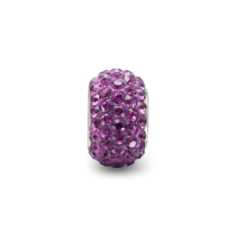 Purple Pave Crystal Bead