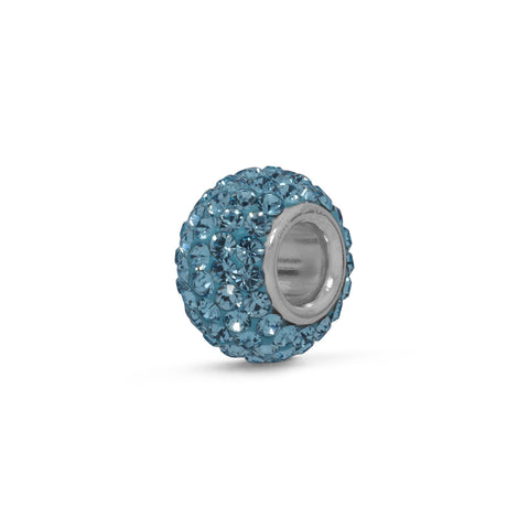 Light Blue Pave Crystal Bead