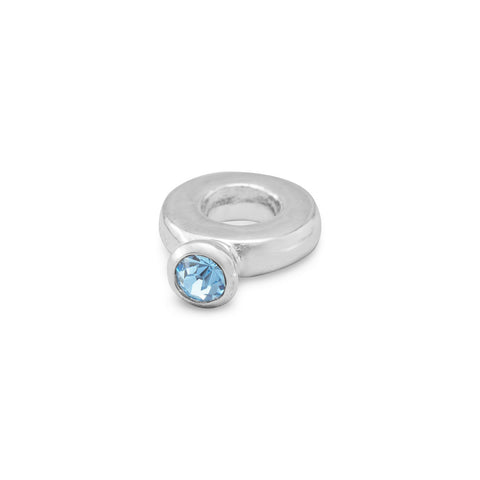 Ring Bead with Blue Crystal