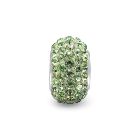 Light Green Pave Crystal Bead