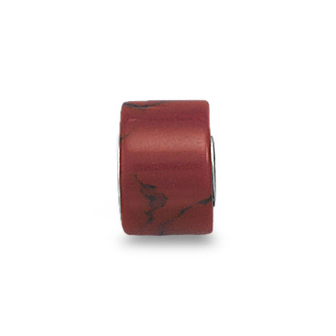Synthetic Red Jasper Bead