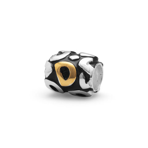 "Two Tone ""D"" Bead"