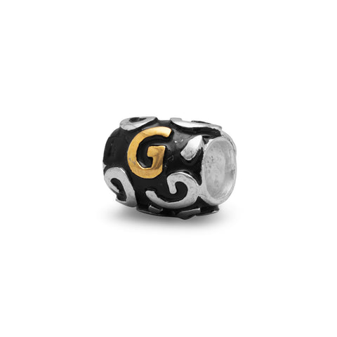 "Two Tone ""G"" Bead"