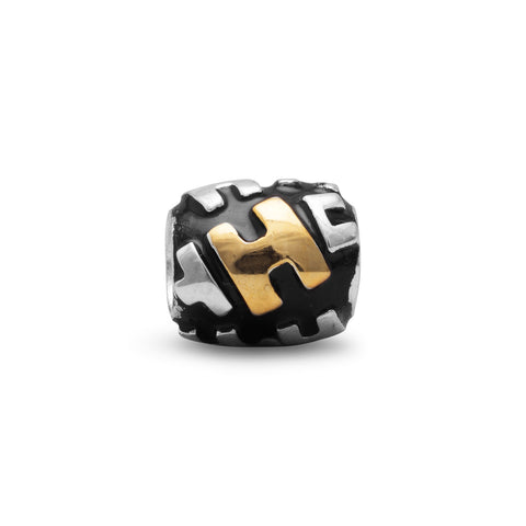 "Two Tone ""H"" Bead"