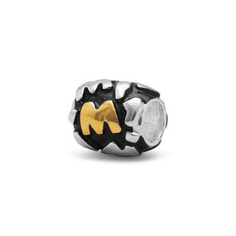 "Two Tone ""M"" Bead"