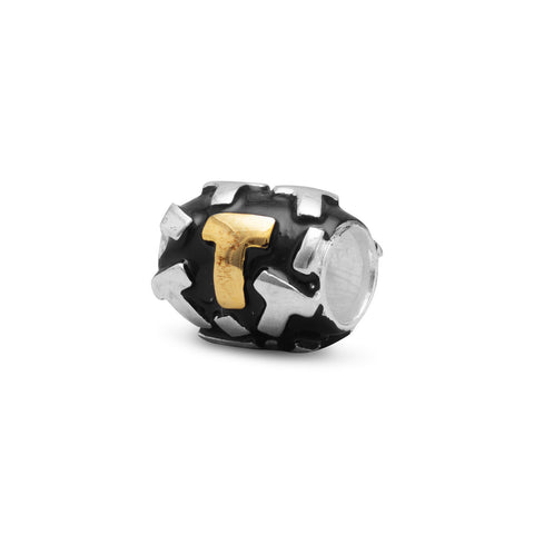 "Two Tone ""T"" Bead"