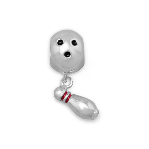 Bowling Ball with Pin Charm Bead