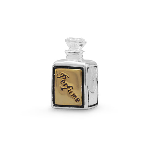 Two Tone Perfume Bottle Bead