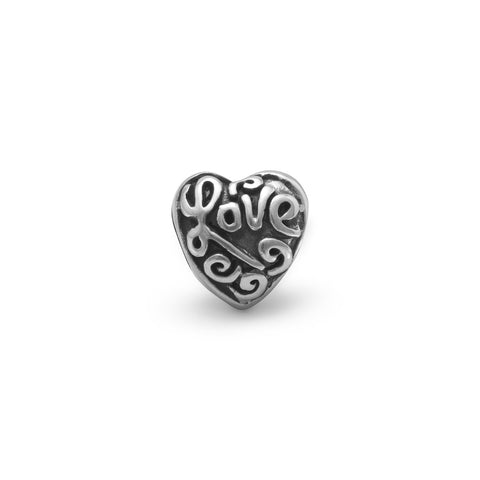 "Heart Bead with ""Love"""