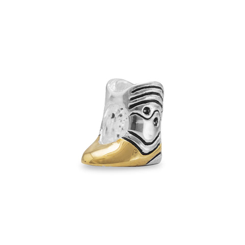 Two Tone Cowboy Boot Bead