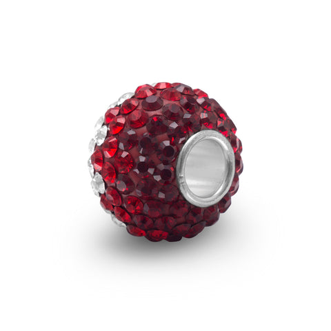Fading Red Crystal Bead