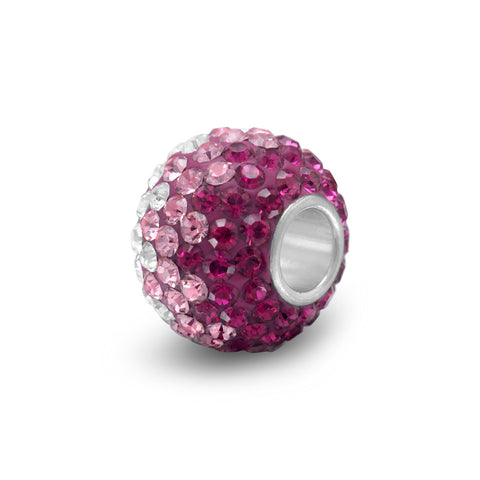 Fading Pink Crystal Bead