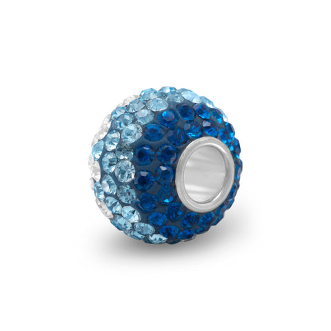 Fading Blue Crystal Bead