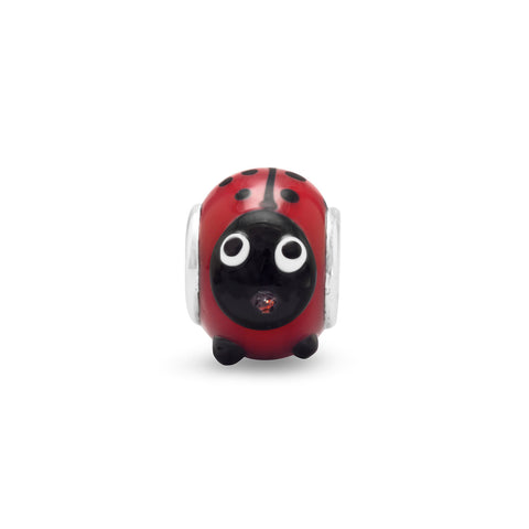 Red and Black Lady Bug Bead