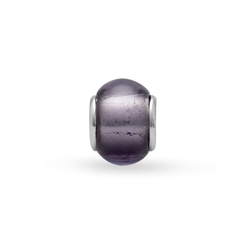 Purple Foil Glass Bead