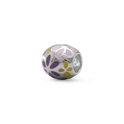 Multicolored Flower Bead