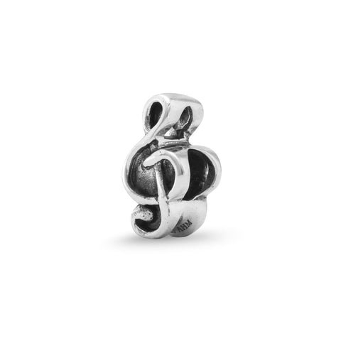Oxidized Treble Clef Bead