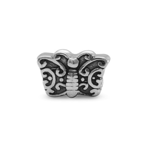 Oxidized Butterfly Bead