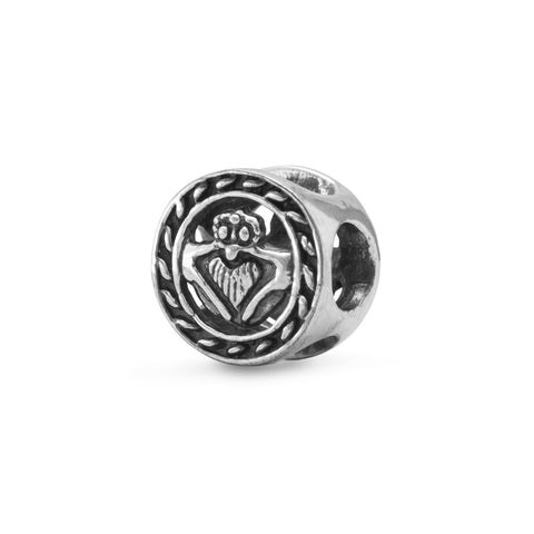 Oxidized Claddagh Bead
